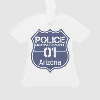 Arizona Police Department Shield 01 Ornament