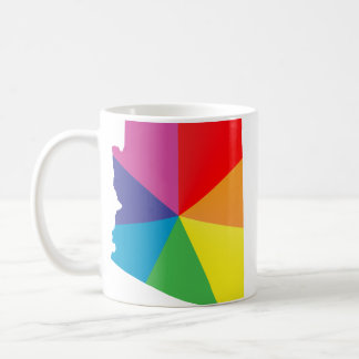 arizona pride. angled. coffee mug