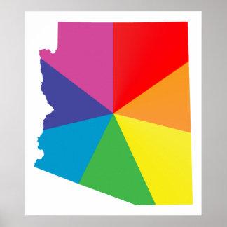 arizona pride. angled. poster
