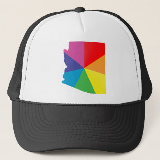 arizona pride. angled. trucker hat