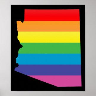 arizona pride. striped. poster