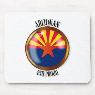 Arizona Proud Flag Button Mouse Pad