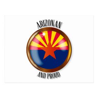 Arizona Proud Flag Button Postcard