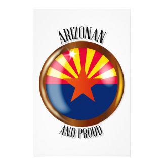 Arizona Proud Flag Button Stationery