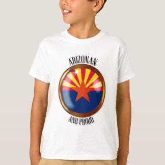 Arizona Proud Flag Button T-Shirt