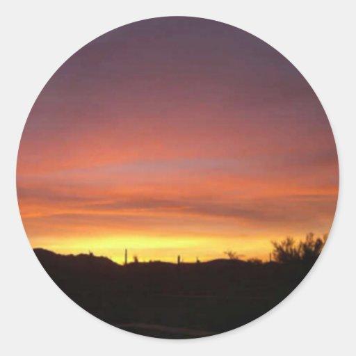 Arizona-Puesta del sol-Papel pintado Pegatina Redonda