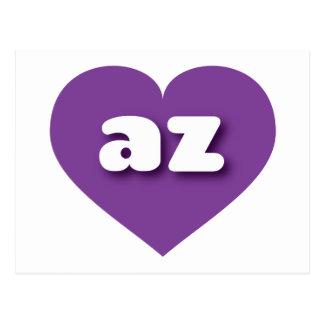 Arizona purple heart - mini love postcard
