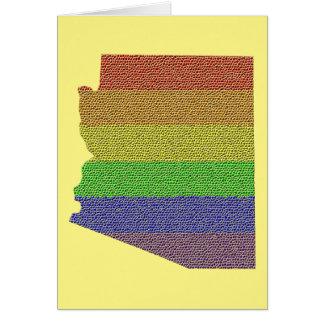 Arizona Rainbow Pride Flag Mosaic Card