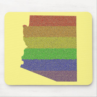 Arizona Rainbow Pride Flag Mosaic Mouse Pad