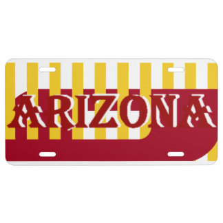 Arizona rayó la placa del trineo del desierto placa de matrícula