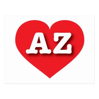 Arizona red heart - Big Love Postcard
