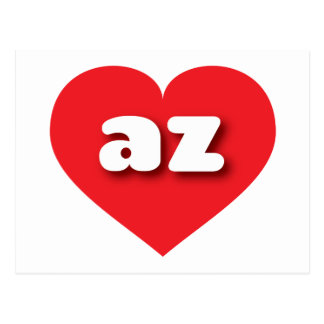 Arizona red heart - mini love postcard