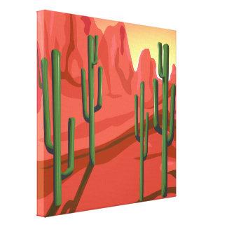 Arizona Red Rock Saguaro Desert Wrapped Canvas