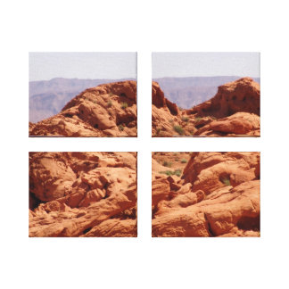 ARIZONA RED ROCK WRAPPED CANVAS WALL HANGING