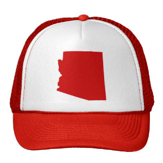 Arizona Red Snap Back Mesh Trucker Hat