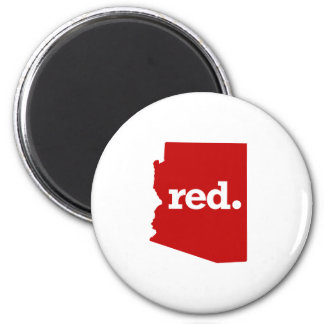 ARIZONA RED STATE 2 INCH ROUND MAGNET