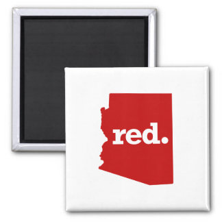 ARIZONA RED STATE 2 INCH SQUARE MAGNET