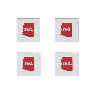 ARIZONA RED STATE STONE MAGNET
