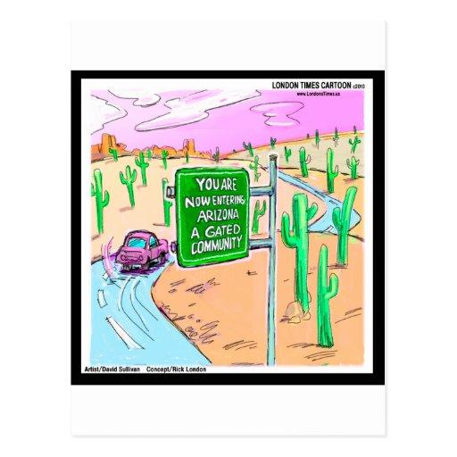 Arizona: Regalos divertidos y camisetas de una com Tarjeta Postal