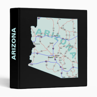 Arizona Road Map Avery Binder