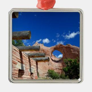 Arizona, roca de la ventana. Capital del Navajo Ornamentos Para Reyes Magos