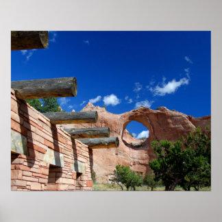 Arizona, roca de la ventana. Capital del Navajo Póster