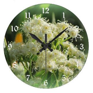 Arizona Rosewood Blooms Wall Clock