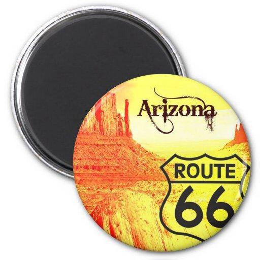 Arizona Route 66 2 Inch Round Magnet