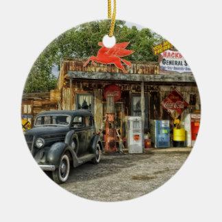 Arizona Route 66 rustic retro store Ceramic Ornament