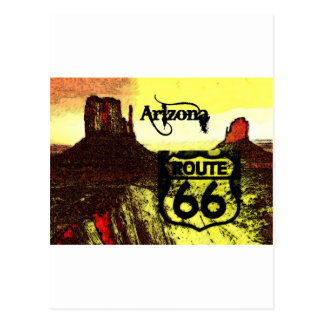 Arizona Route 66 Western Postcard