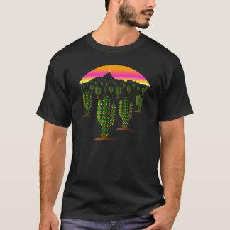 Arizona Saguaro Cactus Christmas Lights at Sunset T-Shirt