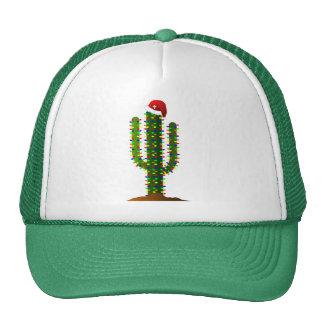 Arizona Saguaro Cactus Christmas Lights Trucker Hat