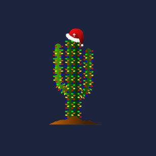 arizona saguaro cactus christmas lights t shirt