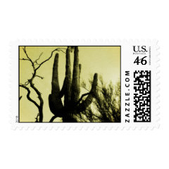Arizona Saguaro Cactus Distressed Edition Postage Stamps