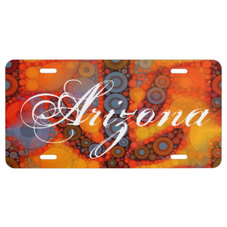 Front aluminum license plates front license plate for Arizona fishing license for seniors