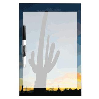 Arizona Saguaro Cactus Southwestern Sunset Dry-Erase Board