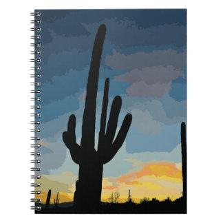 Arizona Saguaro Cactus Southwestern Sunset Notebook
