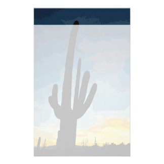 Arizona Saguaro Cactus Southwestern Sunset Stationery