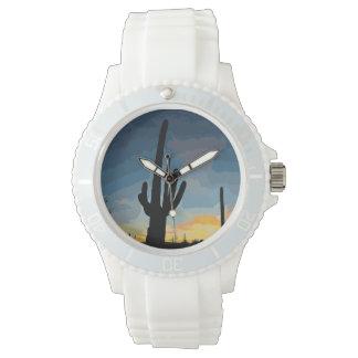 Arizona Saguaro Cactus Southwestern Sunset Watch