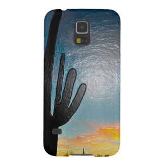 Arizona Saguaro Cactus  Sunset Plastic 3d Art Case For Galaxy S5