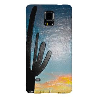 Arizona Saguaro Cactus  Sunset Plastic 3d Art Galaxy Note 4 Case