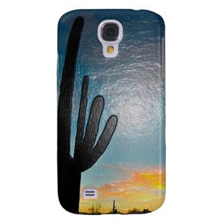 Arizona Saguaro Cactus  Sunset Plastic 3d Art Galaxy S4 Case