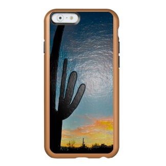Arizona Saguaro Cactus  Sunset Plastic 3d Art Incipio Feather Shine iPhone 6 Case