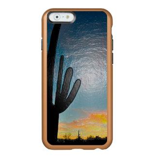 Arizona Saguaro Cactus  Sunset Plastic 3d Art Incipio Feather® Shine iPhone 6 Case