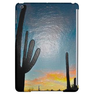 Arizona Saguaro Cactus  Sunset Plastic 3d Art iPad Air Covers
