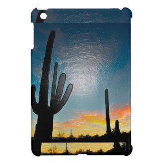Arizona Saguaro Cactus  Sunset Plastic 3d Art iPad Mini Cover
