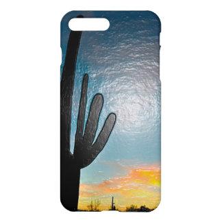 Arizona Saguaro Cactus Sunset Plastic 3d Art iPhone 7 Plus Case