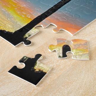 Arizona Saguaro Cactus  Sunset Plastic 3d Art Puzzle