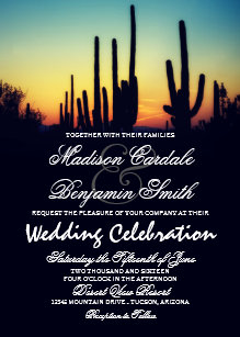 landscape wedding invitations zazzle