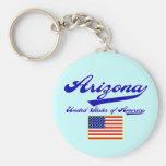 Arizona Script Basic Round Button Keychain